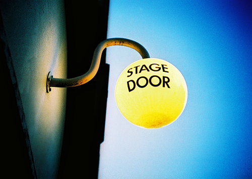 The Stage Door of the Old Vic theatre
