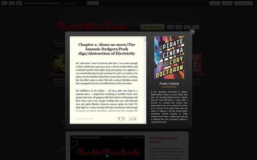 Présentation d'un des livres de l'offre en lecture sur le site