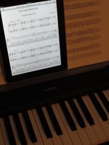 Partition de musique numérique