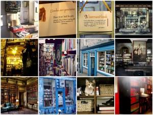 Photographies de différents espaces de vente et de partage du livre