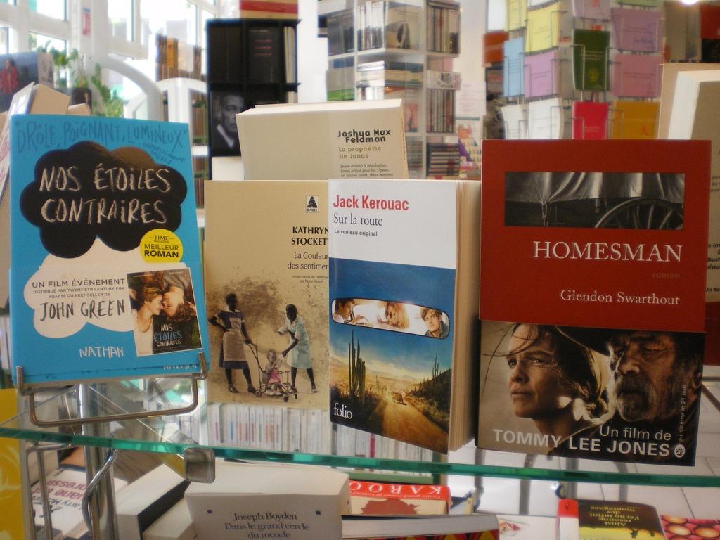 Quelques couvertures de romans ayant été adaptés au cinéma cette année