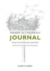 Couverture de Journal, Henry D. Thoreau, Le Mot et le Reste.