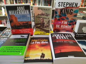Photographie d'une sélection de romans noirs et policiers traduits de l'américain