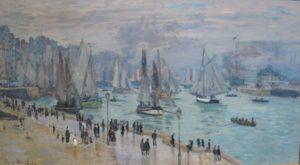 Tableau 'Le Havre, Bâteaux de Pêche Sortant du Port' by Claude Monet, 1874