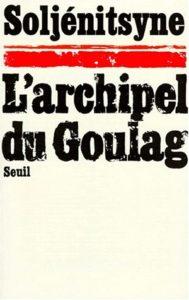 Couverture de L'archipel du Goulag, Alexandre Soljénitsyne, Seuil, 1974. Source : Electre.