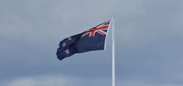 Photographie du drapeau de la Nouvelle-Zélande. Source : Pixabay, CC0.